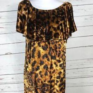 New NWT Lularoe Cici Dress XS 2-4 Womens Leopard